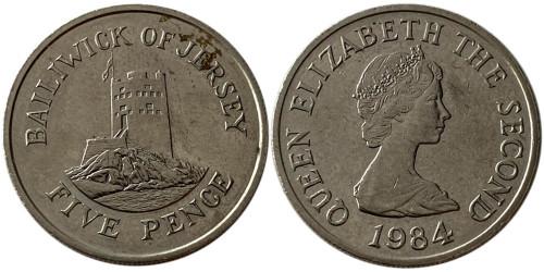 5 пенсов 1984 остров Джерси