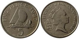 5 пенсов 1987 остров Гернси