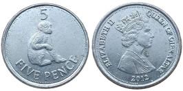 5 пенсов 2012 Гибралтар