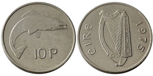10 пенсов 1975 Ирландия