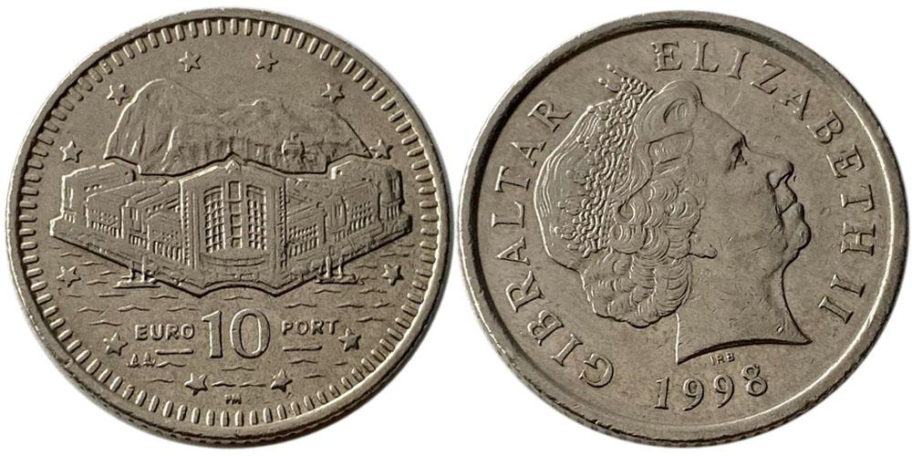 10 пенсов 1998 Гибралтар
