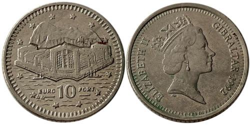 10 пенсов 1992 Гибралтар