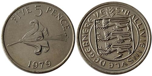 5 пенсов 1979 остров Гернси