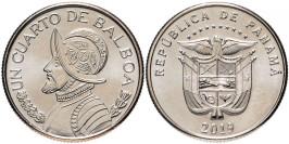 1/4 бальбоа 2019 Панама UNC