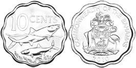 10 центов 2010 Багамские Острова UNC
