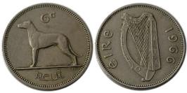 6 пенсов 1966 Ирландия
