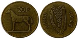 20 пенсов 1986 Ирландия