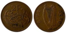 2 пенса 1980 Ирландия