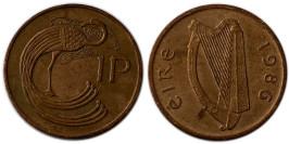 1 пенни 1986 Ирландия