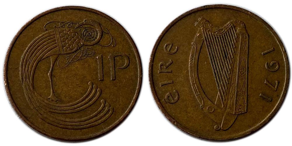 1 пенни 1971 Ирландия