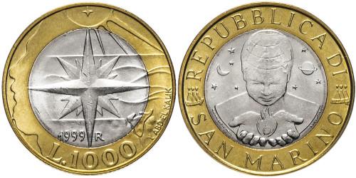 1000 лир 1999 Сан-Марино