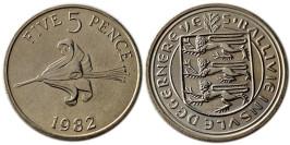 5 пенсов 1982 остров Гернси