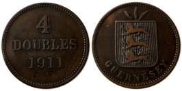 4 дубля 1911 остров Гернси