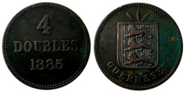 4 дубля 1885 остров Гернси
