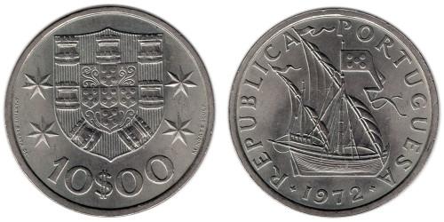 10 эскудо 1972 Португалия