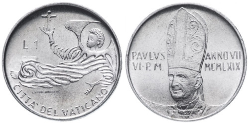 1 лира 1969 Ватикан — MCMLXIX