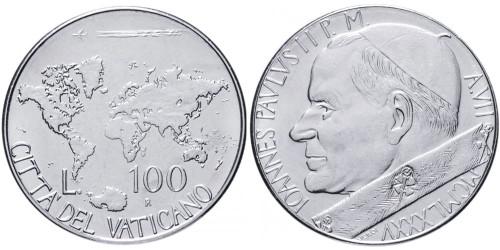 100 лир 1985 Ватикан — MCMLXXXV