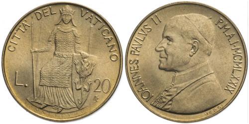 20 лир 1979 Ватикан — MCMLXXIX