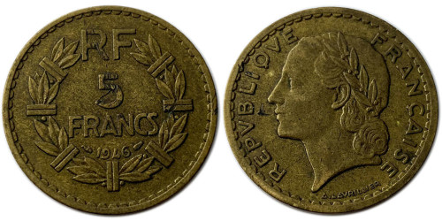 5 франков 1946 Франция