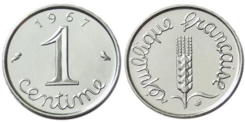 1 сантим 1967 Франция