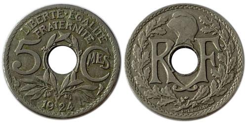 5 сантимов 1924 Франция