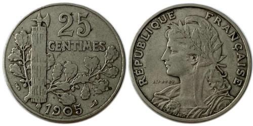 25 сантимов 1905 Франция
