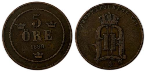 5 эре 1898 Швеция