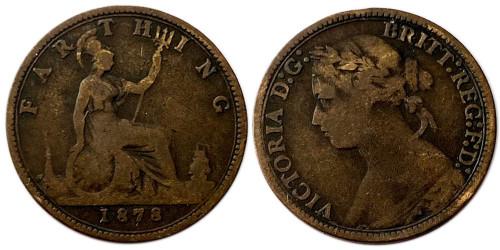 1 фартинг 1878 Великобритания