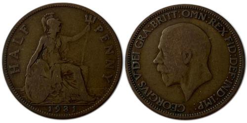 1/2 пенни 1931 Великобритания