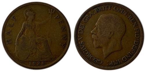 1/2 пенни 1928 Великобритания