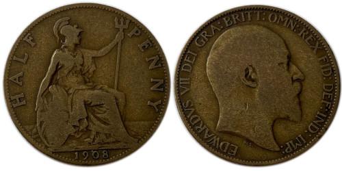 1/2 пенни 1908 Великобритания
