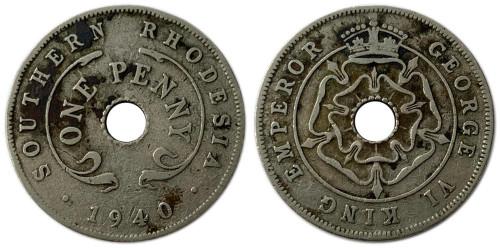 1 пенни 1940 Родезия и Ньясаленд