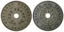 1 пенни 1941 Родезия и Ньясаленд
