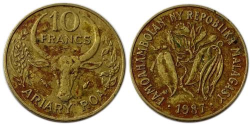 10 франков 1987 Мадагаскар