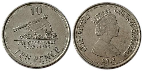 10 пенсов 2013 Гибралтар