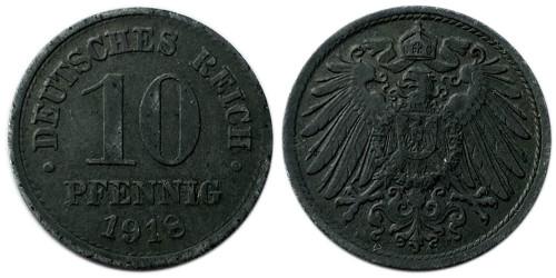 10 пфеннигов 1918  Германская империя — не магнитная