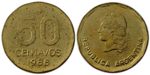 50 сентаво 1988 Аргентина