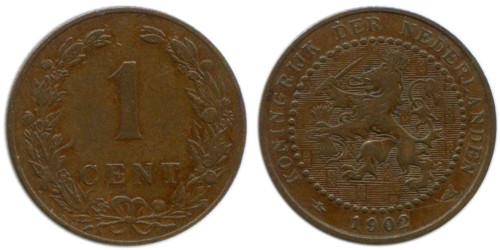 1 цент 1902 Нидерланды