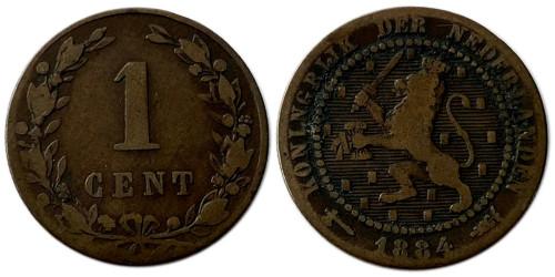 1 цент 1884 Нидерланды