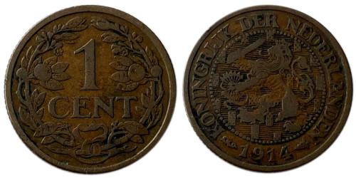 1 цент 1914 Нидерланды