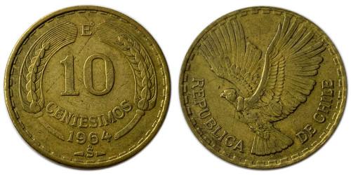 10 сентесимо 1964 Чили