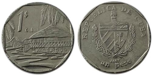 1 песо 2007 Куба