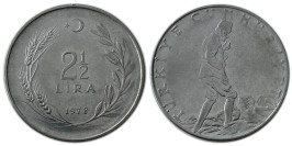 2 1/2 лира 1978 Турция