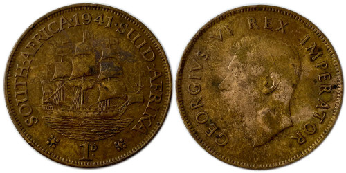 1 пенни 1941 ЮАР