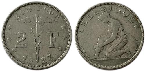 2 франка 1923 Бельгия (FR)