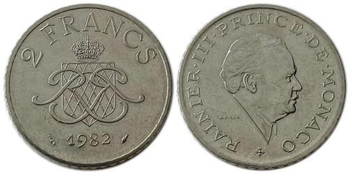 2 франка 1982 Монако