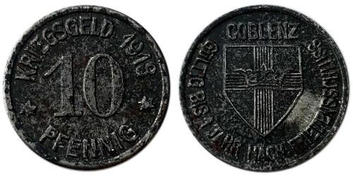 10 пфеннигов 1918 — Германия (Кобленц) нотгельд
