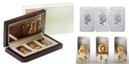 Набор серебряных монет — Икона-триптих — Остров Ниуэ 2012