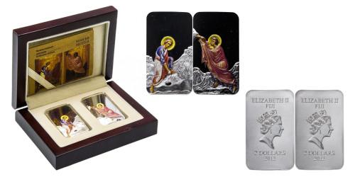 Набор серебряных монет — Пророк Моисей  — Фиджи 2012