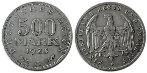 500 марок 1923 Германия — Веймарская республика — A